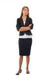 Businesswoman with crossed arms Royalty Free Stock Photos