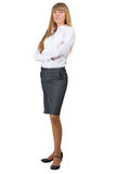 Businesswoman with crossed arms Stock Image