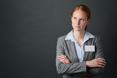 Businesswoman with Crossed Arms Royalty Free Stock Photo