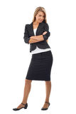 Businesswoman with crossed arms smiling Royalty Free Stock Images