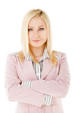 Businesswoman crossed hands Royalty Free Stock Photography