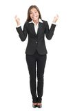 Businesswoman crossing fingers royalty free stock image
