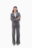 Businesswoman crossing her arms Royalty Free Stock Image