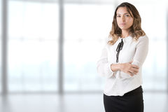 Businesswoman Crossing Her Arms Royalty Free Stock Photography