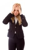 Businesswoman crying in grief Stock Photography