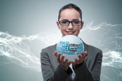 The businesswoman with crystal ball in business concept Royalty Free Stock Photo