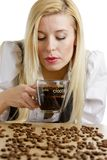 Businesswoman with a cup of coffee Royalty Free Stock Photography
