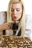 Businesswoman with a cup of coffee Stock Image