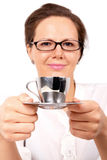 Businesswoman with cup of coffee Royalty Free Stock Photo