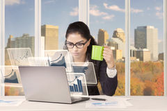 Businesswoman with a cup of coffee Royalty Free Stock Photo