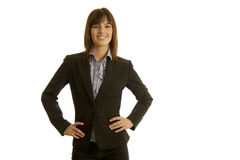 Businesswoman in dark suit Stock Photography