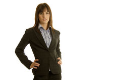 Businesswoman in dark suit Royalty Free Stock Photography