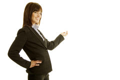 Businesswoman in dark suit Stock Photo