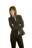 Businesswoman in dark suit Stock Photos
