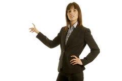 Businesswoman in dark suit Royalty Free Stock Image