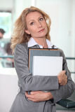Businesswoman daydreaming Royalty Free Stock Photos