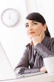 Businesswoman daydreaming Royalty Free Stock Photo