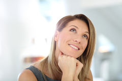 Businesswoman daydreaming Stock Photos