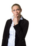 Businesswoman deep in thought Stock Images