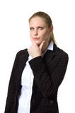 Businesswoman deep in thought Royalty Free Stock Images
