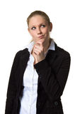 Businesswoman deep in thought Stock Photos