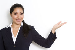 Businesswoman demonstrating blank copy area Royalty Free Stock Photography