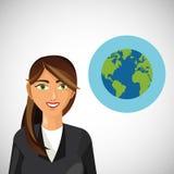 Businesswoman design. Corporate concept. Businessman icon Stock Photos