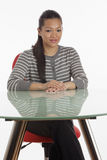 Businesswoman at desk Royalty Free Stock Images