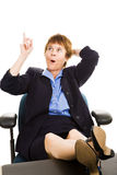 Businesswoman at Desk - Inspiration Stock Photo