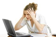 Businesswoman in despair Stock Images