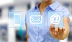 Businesswoman digital interface Stock Image
