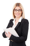 Businesswoman with digital tablet. Royalty Free Stock Photography