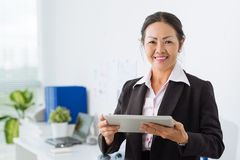 Businesswoman with digital tablet Royalty Free Stock Images