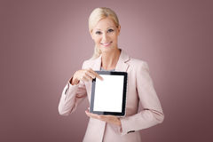Businesswoman with digital tablet Royalty Free Stock Photo