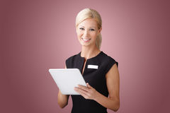Businesswoman with digital tablet Stock Photo