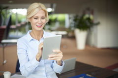 Businesswoman with digital tablet Royalty Free Stock Photography