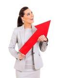Businesswoman direction arrow Stock Photos
