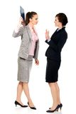 Businesswoman disagree with her friend idea. Royalty Free Stock Image