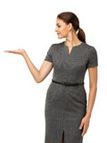 Businesswoman Displaying Invisible Product Stock Photography