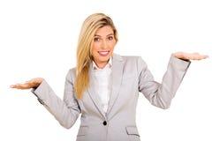 Businesswoman do not know Stock Photo