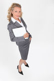 Businesswoman with a document Stock Photo