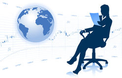 Businesswoman with globe Stock Photos