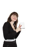 Businesswoman with documents stock images
