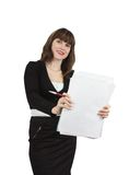 Businesswoman  with  documents Stock Photo