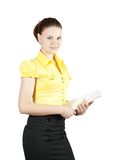 Businesswoman with documents Royalty Free Stock Photo