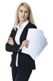 Businesswoman with documents Royalty Free Stock Photos