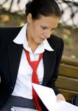 Businesswoman with documents Royalty Free Stock Photography