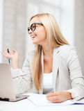 Businesswoman with documents Stock Image