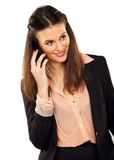 Businesswoman Doing a Phone Call Royalty Free Stock Photography