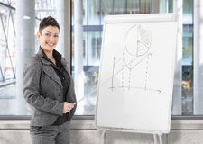 Businesswoman doing presentation Royalty Free Stock Photo